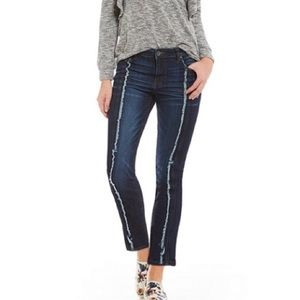 Kut from the kloth Reese ankle jeans fray stripe